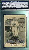 George Kelly Psa Dna Autograph 1947 Remar Bread Oakland Oaks Authentic Signed