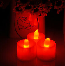 LED Red Flameless Tealight Candles Battery Operated