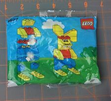 Vintage 1990 Lego Figure Easter Bunny  Build a Rabbit #1677  New made in Denmark