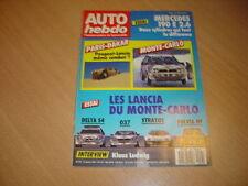Auto hebdo N°557 Mercedes 190 E 2.6.Les Lancia  rallye