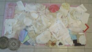 Large 110+ Piece Lot-Used Vintage Doilies-Napkins-Runners-Linens-Dresser Scarves