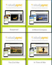 Study Sync by McGraw Hill Grade 8 Reading Writing Companion Set of 4 Workbooks