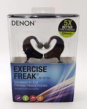 Denon AH-W150 Exercise Freak Wireless In-Ear Headphones Bluetooth Black {D-2}*--