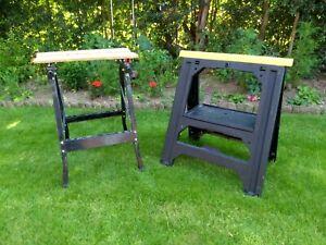 Stanley Folding Saw Horse Trestle & Folding Work Bench Used