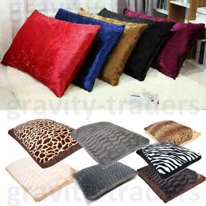 Large & Extra Large Fur Any Dog Bed Pet Cat Washable Zipped Mattress Cushion New