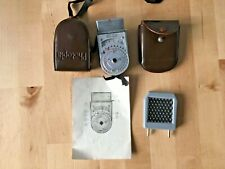 Vintage Photopia Exposure Meter With Booster Cell in leather cases + manual