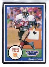 1990 Roger Craig - Starting Lineup Card - San Francisco 49ers - (Blue)