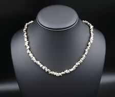 """RL Richard Lindsay Sterling Silver Stone Roc Abstract Necklace 18"""" 7mm NS1500"""