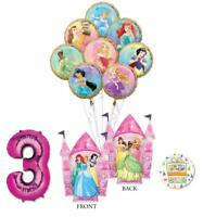 Disney Princess Party Supplies 3rd Birthday Balloon Bouquet Decorations with ...