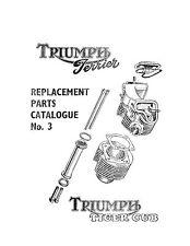 Triumph Parts Manual Book 1954 & 1955 Terrier & 1954 & 1955 Tiger Cub