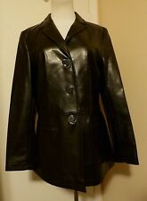 LAUREL JEANS BY ESCADA BLACK PVC JACKET COAT Size 38 (US 8)