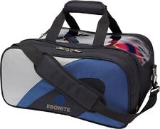 Ebonite 2 Ball Deluxe Shoulder Tote Bowling Bag with shoe pocket