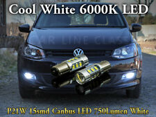 Pair Bulbs DRL LED P21W Ba15s Bright White 6000K Canbus For VW Polo 6R 2009-2017