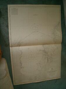 Vintage Admiralty Chart 3111 PANAMA - COLON HARBOUR 1921 edn