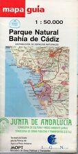 """MAPA GUIA DEL PARQUE NATURAL """"BAHIA DE CADIZ"""" 987"""
