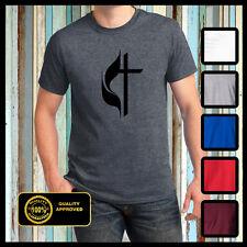 Christian t shirt Methodist Church Cross Logo