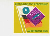 Germany 1976 Winter Olympics Sports Aid Mint Never Hinged Stamps Sheet Ref 25735