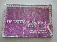 Original 1970s Datsun 120A F-11 100A F-11 owner's manual - Model F10 series