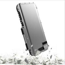 For Samsung Galaxy S10+ S10 Plus  Armor King 360° Flip Metal Case Cover Silver