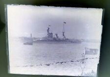 Vintage Photography plate negative. HMS Renown 1927 leaving Portsmouth.