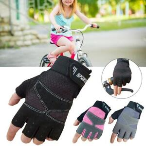 Kids Children Bike Cycling Half Finger Gloves Boys & Girls Sports Bicycle Riding