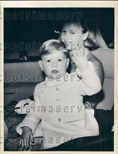 1964 Cute Prince Andrew & Sister Princess Anne of England Press Photo