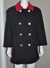 Mackintosh of New England Women's Coat Jacket Size 10 Black & Red Collar