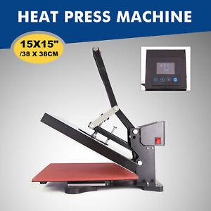 38x38cm Presse à Chaud Presse à Textile Transfert Presse de Chaleur Impression