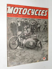 MOTOCYCLES N°67 1952 MOTO 250 EXCELSIOR TALISMAN VICTORIA SACHS 150 PEUGEOT 175