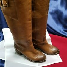 Women's Lucky Brand Tan Boots Leather NO SIZE (see measurements) Knee High NICE!
