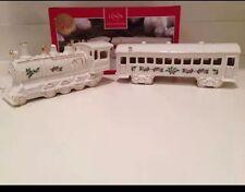 Lenox Christmas Village Train Engine & Passenger Car ~ New in Lenox Box ~ HTF