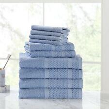 10-Piece Plush Cotton Towel Set Multiple Colors Available Softness Bathroom