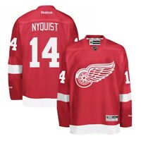 Gustav Nyquist Reebok Detroit Red Wings Official Home Red Premier Jersey Men's