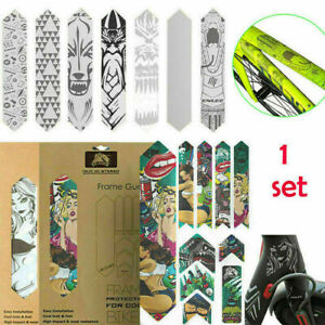 ENLEE MTB Mountain Bike Frame/Fork Protection Stickers Wear Resistant Protector