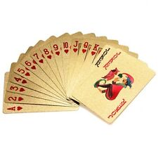 24K Sets Gold Foil Plated Gift Playing Cards Game Poker Dollar USD Deck Toy MSYG