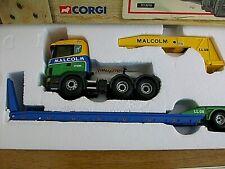 Corgi 1/50 cc12210 Scania Low Loader & Thames Trader Tipper - Malcolm Ltd  NEW