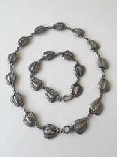 VINTAGE STERLING Necklace and Bracelet  DANECRAFT