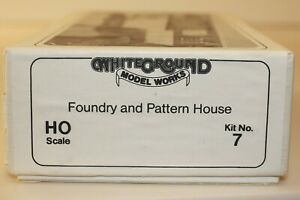 White Ground HO Foundry and Pattern House