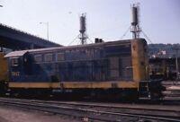SANTA FE Railroad Locomotive ATSF 507 ARGENTINE KS Original 1971 Photo Slide