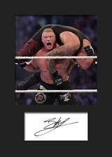 BROCK LESNAR #2 (WWE) Signed Photo A5 Mounted Print - FREE DELIVERY