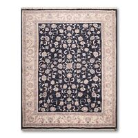 "8'2"" x 10'6"" Hand Knotted 100% Wool Traditional Oriental Area Rug Black"
