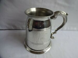 SHEFFIELD MINT FINE ENGLISH ONE PINT PEWTER TANKARD Hand Crafted