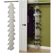 20 Pocket Hanging Shoe File Organizer, Holds 10 Pair Of Shoes In Closet, Storage