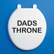 DADS THRONE - Toilet Seat Vinyl Sticker - Black Humorous / Bathroom Themed