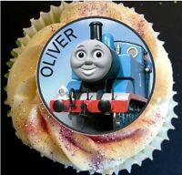 24 PERSONALISED THOMAS THE TANK ENGINE RICE CUP CAKE - FAIRY CAKE TOPPERS X24