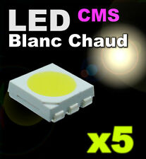 164/5# LED 5050 CMS Blanc chaud super lumineuse 5pcs
