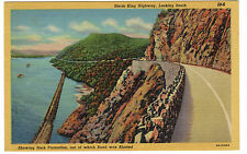 1939 postcard- Storm King Hwy. Looking South, Rock From Which Road Blasted