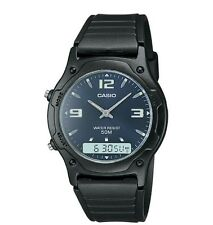 Casio AW49HE-2A Men's Resin Strap Blue Dial Analog Digital Dual Time Watch