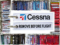 Keyring CESSNA AIRCRAFT Remove Before Flight tag keychain