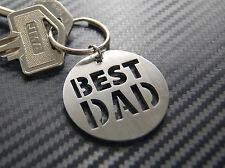 BEST DAD Dad Daddy Fathers Day Keyring Keychain Key Stainless Steel Gift